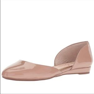 Jessica Simpson Nude Patent Leather Luvinia Flats